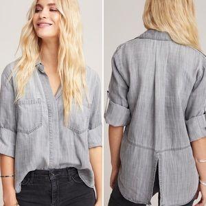 Bella Dahl split back button done blouse